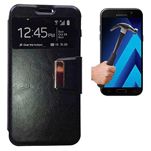 Todobarato24h Funda Libro Ventana Compatible con Samsung Galaxy A5 2017 Negra +...