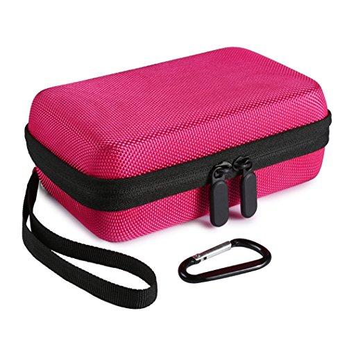 Faylapa Hard Case for HP Sprocket,EVA Nylon Shockproof Carrying Bag fit Phone Sprocket Portable Photo Printer,Anker Hard Drive (Rose Red)