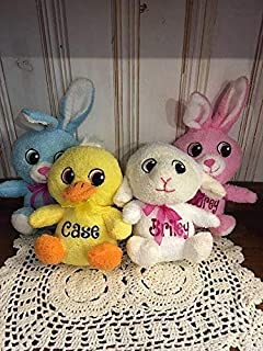 f55d2add4836 Adorable Personalized   Small Easter Plush   Big Head Animal   Stuffed Toy
