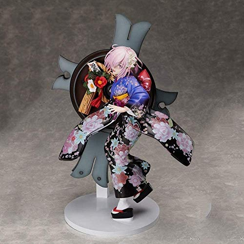 Xlyasky PVC Handmade Figure Fate/Grand Ordine Kimono Matthew Kyrielite Shielder Mash Kyrielight Anime Anno Ver Scudo Madre Action Figure Gift Children and Otaku Anime Fans Best Gift