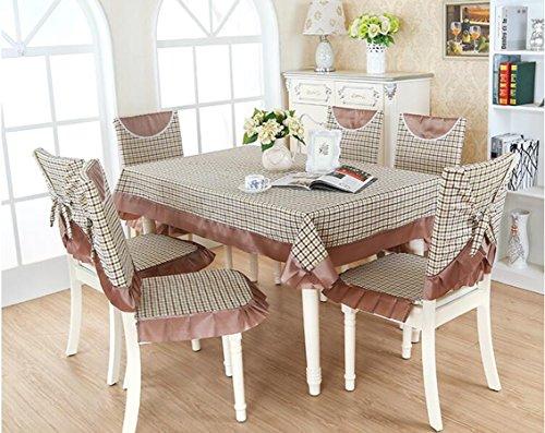 XINGYUNXING nappes pastorales de Dentelle, Tissu de Table, Linge de Table, Chaise Linge de Table Coussin, Couverture de Chaise,130 * 130CM
