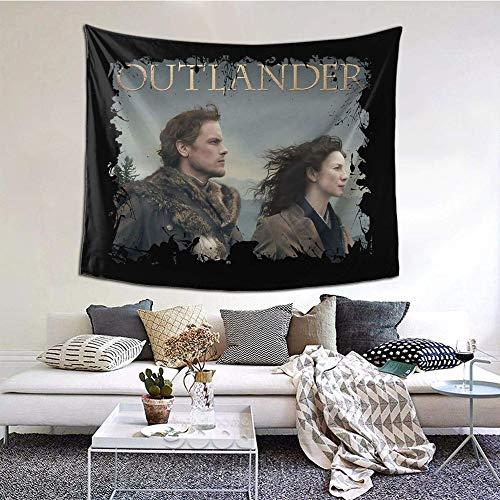 Hdadwy Outlander - Tapiz Decorativo de Pared de Jamie Claire, Dormitorio, Sala de Estar, Dormitorio, decoración de Fiesta, 60 x 51 Pulgadas