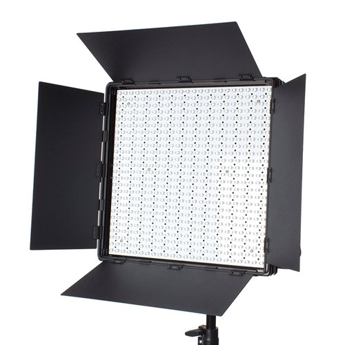 Fovitec  StudioPRO - 2x Daylight 900 LED Panel Bundle w/ Barndoors & Stands - [Continuous][Adjustable Lighting][V-Lock Compatible]