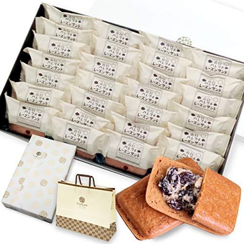 レーズンバターサンド 28個入 手提げ紙袋付き [冷] お菓子 ギフト 詰め合わせ 個包装