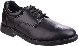 Hush Puppies Boys Tim Leather School Shoe