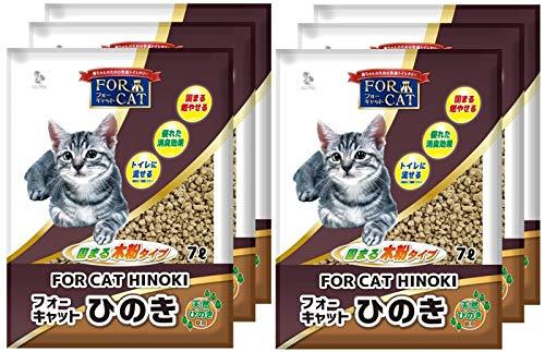 新東北化学工業 猫砂 フォーキャットひのき 7L×6個 (ケース販売)