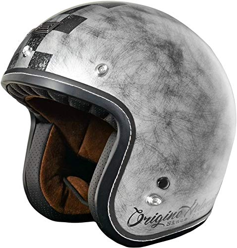 Origine Helmets Origine Primo Scacco Silver - M Medium Plateado