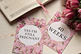 Embarazo tarjetas de viaje y realidad–brillante Floral Dd022