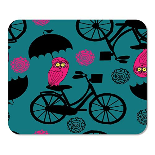 Mousepad Computer Notepad Office Abstrakte Muster Rote Eule Grün Tier Fahrrad Vogel Birdie Home School Game Player Computer Worker Inch