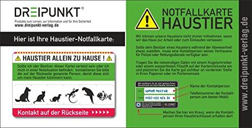 Notfallkarte 'Haustier': PVC-Karte im Scheckkartenformat für die Brieftasche