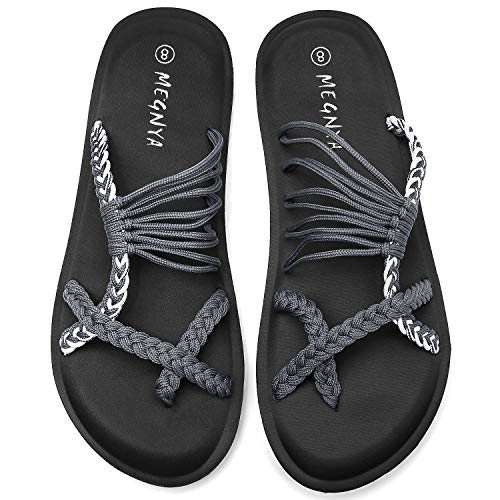 Yoga Mat Flip Flops for Women, Comfortable Foam Sandals for Walking, Flexible and Lightweight Slippers for Beach/Holiday/Poolside/Outdoor Activities 19ZDME05-W84-8-9-1
