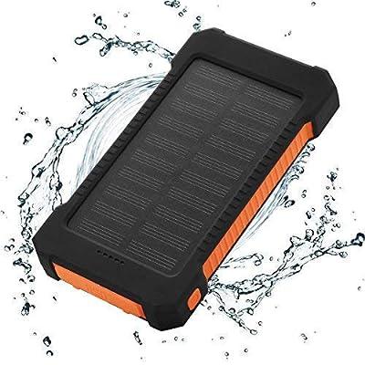FLOUREON 10,000mAh Solar Power Bank Portable So...