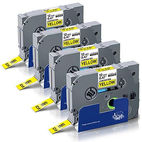 5x Schriftband-Kassette für Brother P-Touch 2100 2110 2200 2210 TZe-221 TZ221