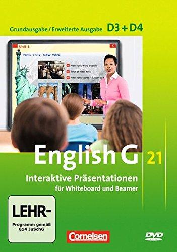 English G 21 - Materialien für Whiteboard und Beamer - Ausgabe D: Band 3/4: 7./8. Schuljahr - Interaktive Präsentationen für Whiteboard und Beamer: DVD-ROM