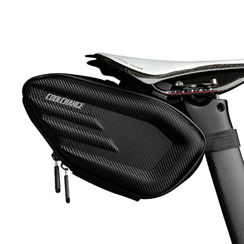 Cool Change Bike Seat Bag, Waterproof Bicycle Saddle Pack, 3D Shell Cycling Rear Pouch for Mountain Road Bikes