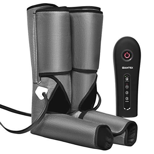 COSTWAY Beinmassagegerät Luftdruckmassage, Massagegerät für Beine und Füße, Fuß-Waden-Massagegerät 3 Modi und 3 Intensitäten, Venenmassagegerät Muskelentspannung (Bein- und Fußmassagegerät)