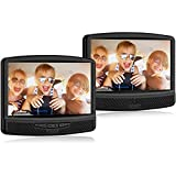 RCA 10 Inch Dual Screen Mobile DVD System with Remote Control Car Power Adapter New Gift Box (Renewed)