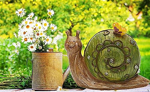 Figuras de jardín Lámpara solar decorativa para exteriores, estatuas de animales, adornos para el hogar, interior, exterior, escultura, patio, jardín, balcón, inauguración de la casa, regalo de j