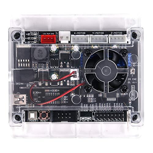 Tablero de control GRBL 1.1 actualizado con ventilador de refrigeración para 1610/2418/3018 Máquina de grabado láser DIY Conexión USB avec Controlador sin conexión Pour 3 ejes CNC