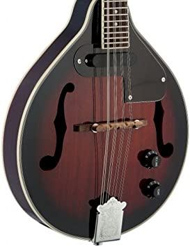 3rd Avenue Rocket Series Traditional Bluegrass Acoustic Mandolin in Violinburst with Padded Gig Bag