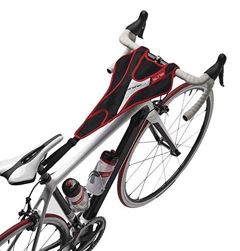 Elite PROTEC Accessoires pour Home Trainer à rouleaux Serviette anti-transpirante rouge