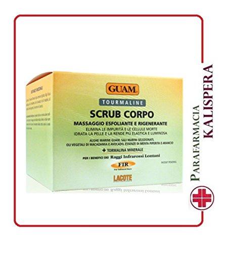 Guam Tourmaline Scrub Corpoy, Massaggio Esfoliante e Rigenerante, 600 g