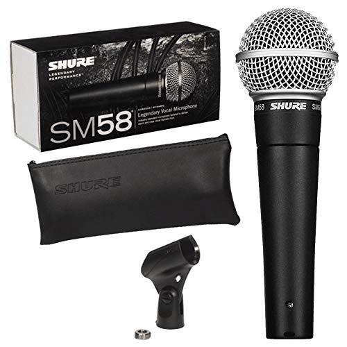 Shure SM58-LCE Microfono professionale dinamico e cardioide (+ astuccio e supporto inclusi)