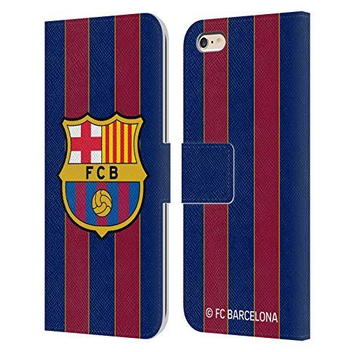Head Case Designs Oficial FC Barcelona Casa 2020/21 Kit de Cresta Carcasa de Cuero Tipo Libro Compatible con Apple iPhone 6 Plus/iPhone 6s Plus