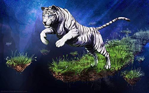 Puzzles De Madera 1500 Piezas Rompecabezas Clásico   Tigre Blanco Patrón Animal   Trick Toy Gift Para Niños Y Adultos Challenge,Regalo de Vacaciones