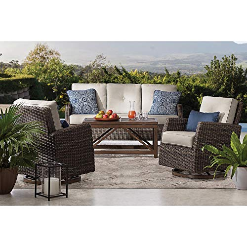 Members Mark Agio Fremont 4-Piece Patio Deep Seating Set with Sunbrella Fabric - Silver