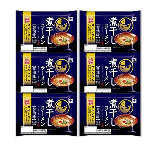 北海道 ラーメン 煮干しラーメン 2食入り×6個 生ラーメン 煮干し ラーメン にぼし 生ラーメン 藤原製麺