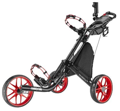 Caddytek EZ-Fold 3Roues Chariot de Golf, Red