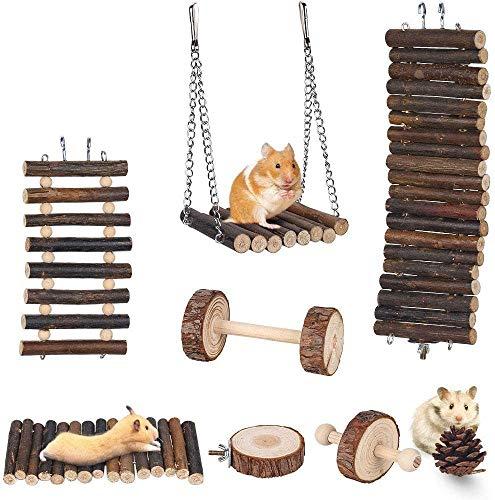 Lurowo Jouet de Hamster,8 Accessoires de Jouet, Pont...