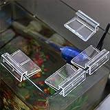Zonster 4pcs 6mm Titulares Acuario De AcríLico Clips Peces De Acuario Tanque De Vidrio Sostenedores De Cristal Cubierta De Soporte