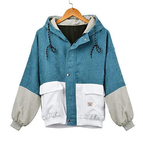 Best Review Of Men Jackets Coat Long Sleeve Hoodies Corduroy Patchwork Oversize Zipper Jacket Windbr...