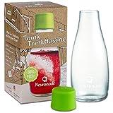 Borraccia in vetro 0,3 litri di Neuronade® I 100% senza BPA I robusto vetro borosilicato per viaggiare (ufficio, lo studio, Sport) I pratico flacone di vetro in Design Retap con coperchio
