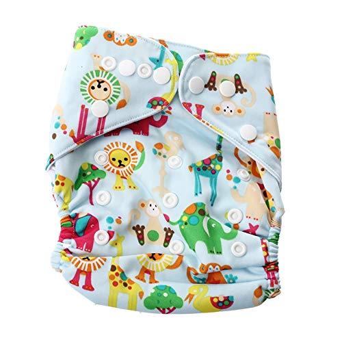 Kirmax Baby Windel Stoffwindel ueberhose Windelhose Verstellbar Trainingshoeschen Mehrweg(Windel nicht in der Verpackung)