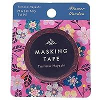 [マスキングテープ]Tomoko Hayashi 15mm マステ/フラワーガーデン ピンク