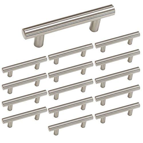 "Mejor Antrader 3-Inch Cabinet Hardware Handle Pull, Zinc Alloy Sliding Door Handles for Gates Cabinet Drawer Door, Black, Pack of 10 (Hole to Hole: 6.6cm/2.6"") crítica 2020"