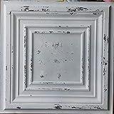 PLASTDECOR Tin Ceiling Tile Faux finishes Peeling Black White PL05 Pack of 10pcs