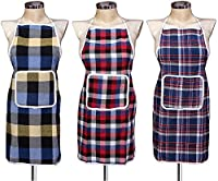 Color: Color May Vary, Size Name: Medium Material: Cotton Package Contents: 3 Aprons Size: Medium