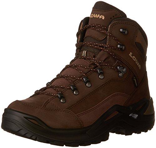 LOWA Boots Renegade Gore-tex Mid Brown Bottes de randonnée pour Homme - Marron - Expresso Marron, 43 EU