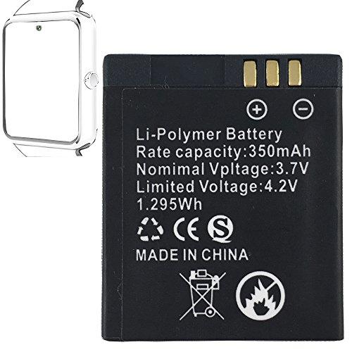 OCTelect Smartwatch Batterie GT08 wiederaufladbare Lithium-Batterie mit 360MAH Kapazität