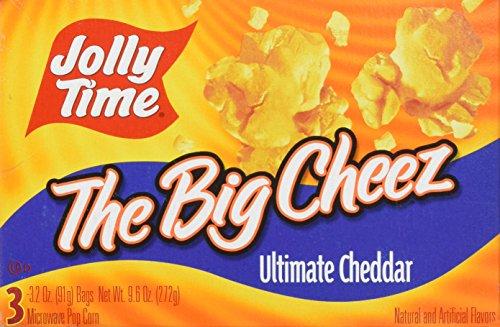 Jolly Time Mikrowellen Popcorn mit Käse-Geschmack, Mikrowellenpopcorn, Cheese Taste, 300 gramm