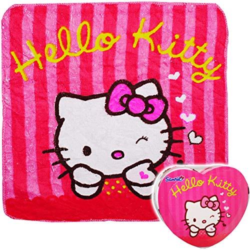 alles-meine.de GmbH magischer Waschlappen / Handtuch - Zauberwaschlappen - Katze - Hello Kitty - Frottee aus 100 % Baumwolle - Magic Towel - Waschfleck - Waschtuch - Waschhandsch..