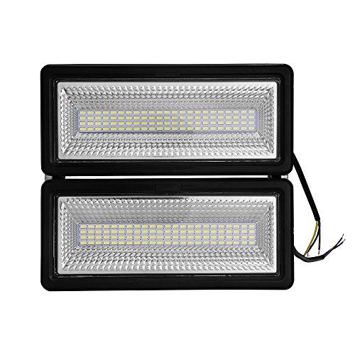 50W 100W Focos LED Exterior Puede fusionarse LED Foco Proyector, Peso ligero, Ultra Delgado, Bajo Consumo de Energía y Alto Brillo (100W, Blanco frío)