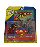 Superman Man of Steel Limited Edition 2 Pack Action Figure - Hunter-Prey Superman and Doomsday Plus Bonus Exclusive DC Comic Book