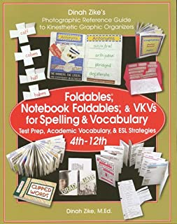 Foldables, Notebook Foldables, & VKVs for Spelling & Vocabulary 4th -12th