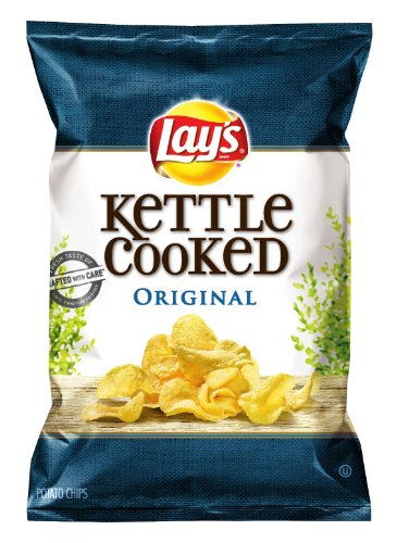 Lay's Kettle Cooked Potato Chips, Original, 8.5 Ounce