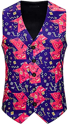 Ourjsncvns Store Men's Slim Fit Banquet Business Christmas Vest V-Neck Party Dress Suit Waistcoat